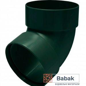 Відвід труби двохмуфтовий 67 ° зелений RainWay 130мм