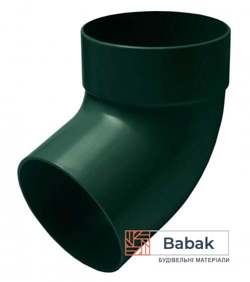Відвід труби одномуфтовий 67 ° зелений RainWay 130мм