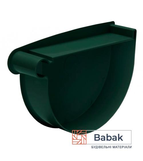 Заглушка воронки ліва зелена RainWay 130мм