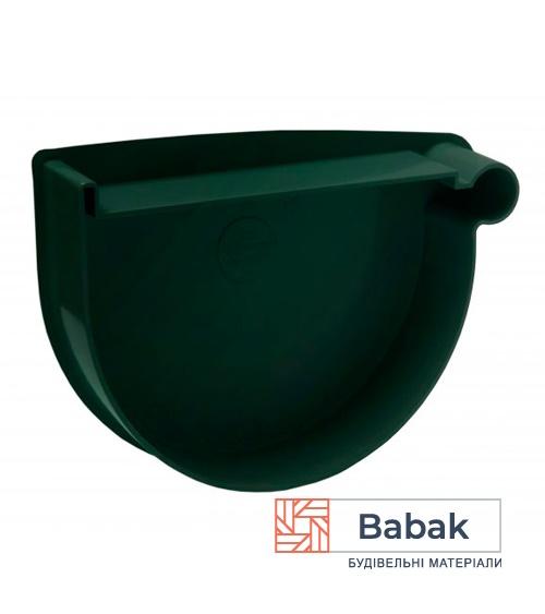 Заглушка воронки права зелена RainWay 130мм
