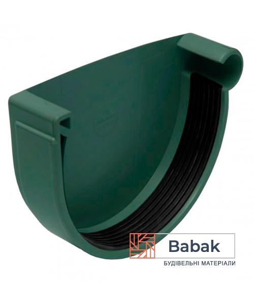 Заглушка ринви права зелена RainWay 130мм
