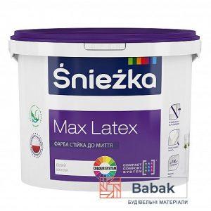Фарба Sniezka Max Latex білий 10л / 14кг