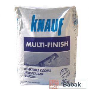 Шпаклівка гіпсова Knauf MultiFinish 25кг фінішна