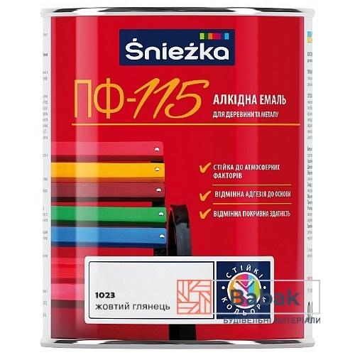 Sniezka ПФ-115 жовтий глянець 800мл / 0,9кг