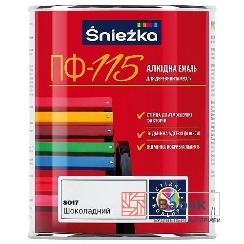 Sniezka ПФ-115 шоколадний глянець 800мл / 0,9кг