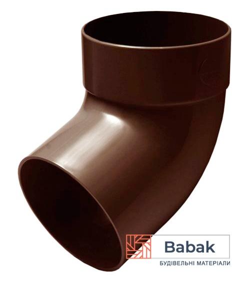 Відвід труби одномуфтовий 67° коричневий RainWay 90мм