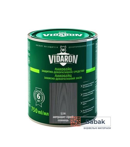 Лакобейц VIDARON антрацит сірий L16 750мл