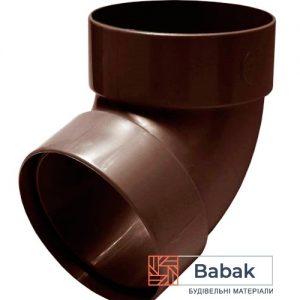 Відвід труби двохмуфтовий 67° коричневий RainWay 90мм