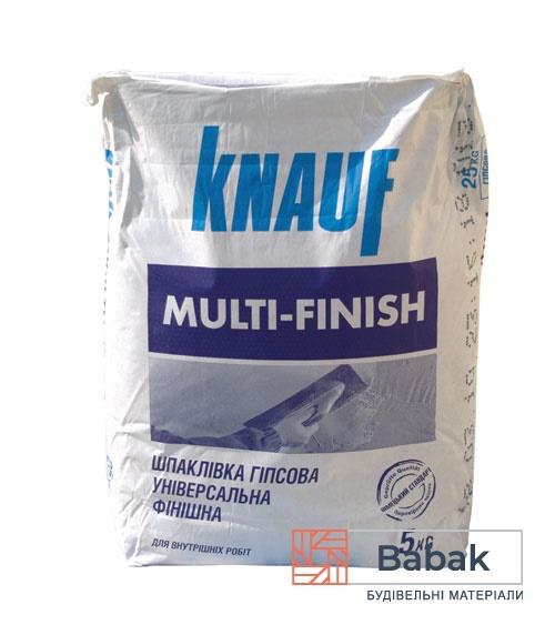 Шпаклівка гіпсова Knauf MultiFinish 5кг фінішна