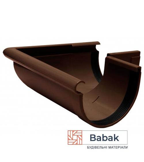Кут ринви зовнішній 90° коричневий RainWay 130мм