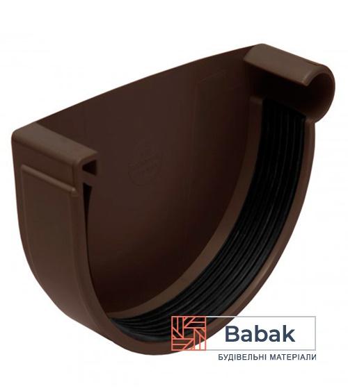 Заглушка ринви права коричнева RainWay 130мм