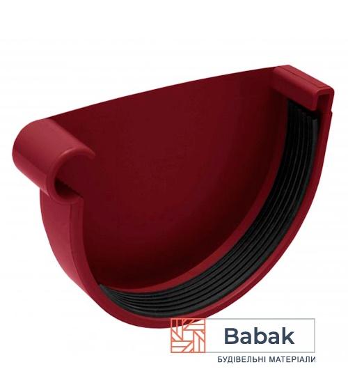 Заглушка ринви ліва червона RainWay 130мм