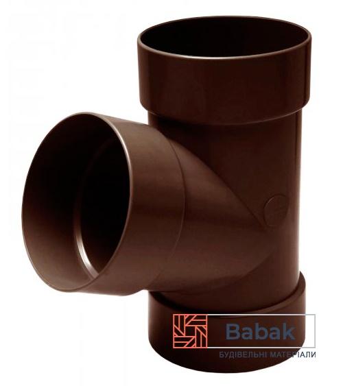 Трійник труби 67° коричневий RainWay 130мм