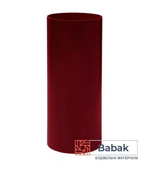 Труба водостічна червона 3м RainWay 130мм