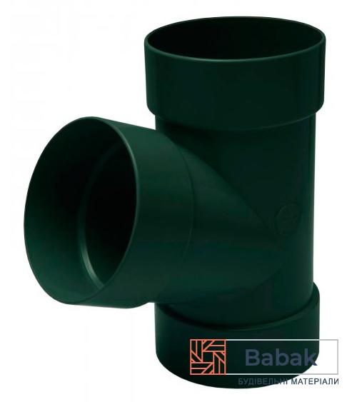 Трійник труби 67° зелений RainWay 130мм