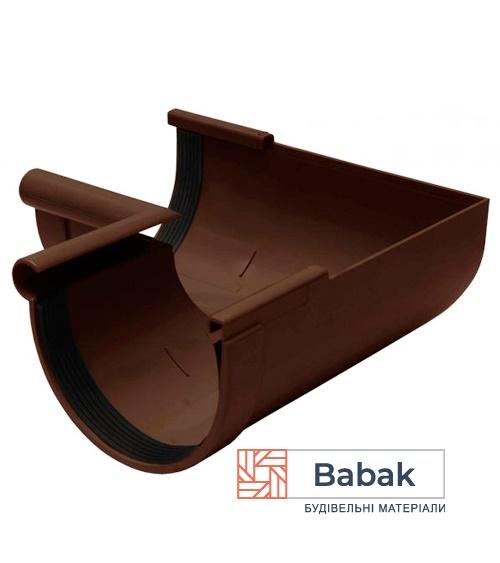 Кут ринви внутрішній 90° коричневий RainWay 90мм