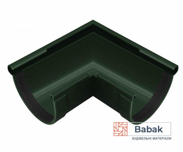 Кут ринви зовнішній 90° зелений RainWay 130мм