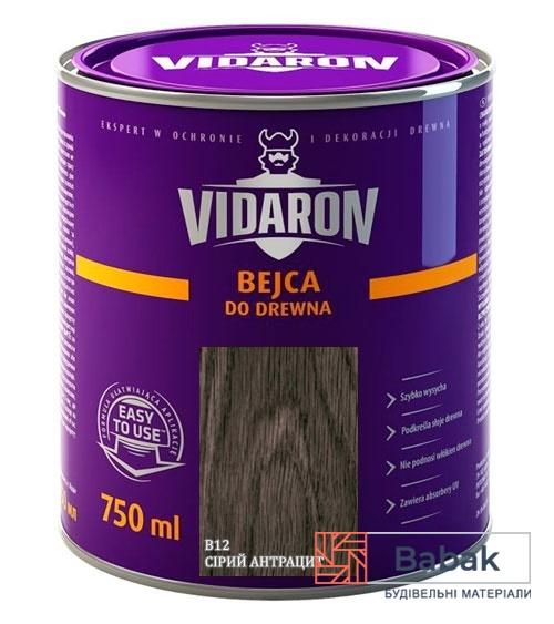 VIDARON Бейц сірий антрацит В12 750мл