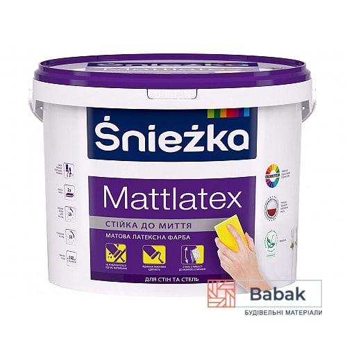 Фарба Mattlatex Sniezka 3л / 4,2кг