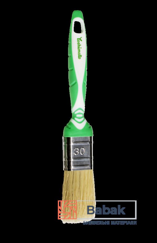 Пензель флейцевий 30мм комбінований ворс, ручка 2К Yoshimoto