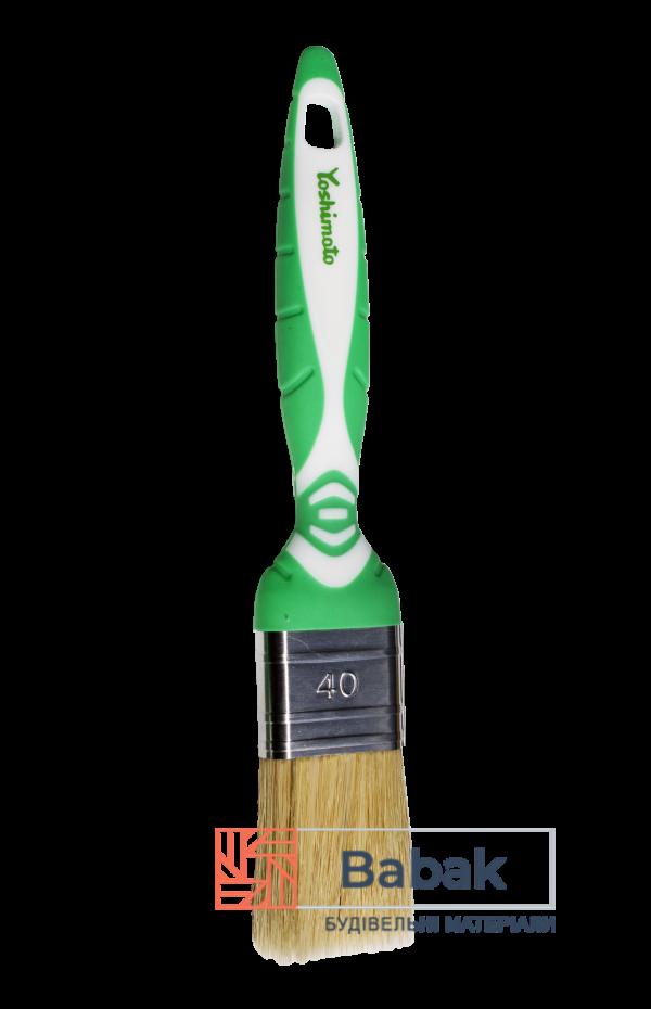 Пензель флейцевий 40мм комбінований ворс, ручка 2К Yoshimoto
