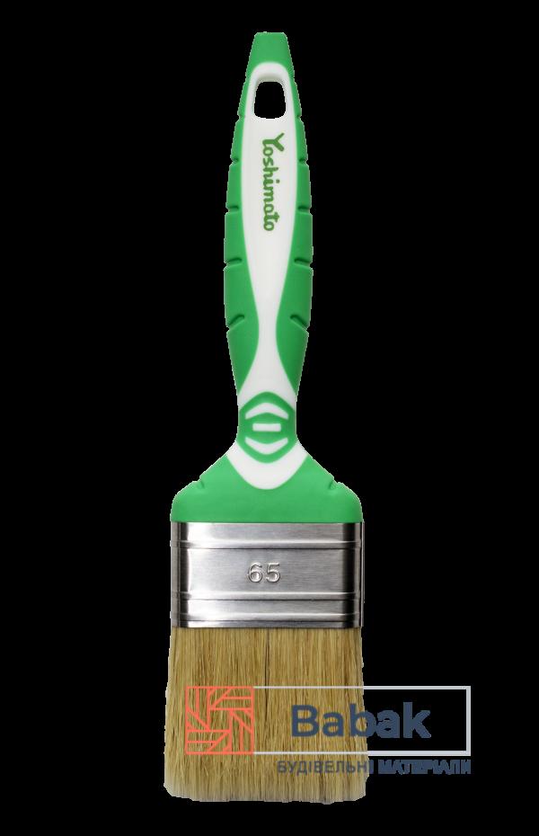 Пензель флейцевий 65мм комбінований ворс, ручка 2К Yoshimoto