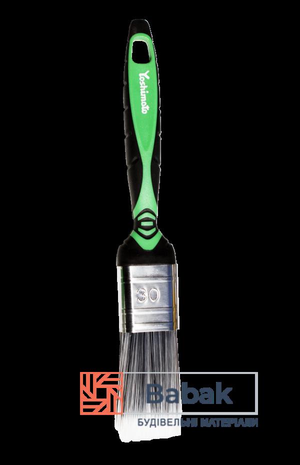 Пензель флейцевий 30мм, ручка 2К штучний ворс Yoshimoto