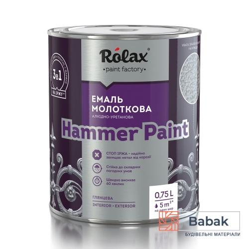 Емаль молоткова алкідно-уретанова «HAMMER PAINT» сіра 304